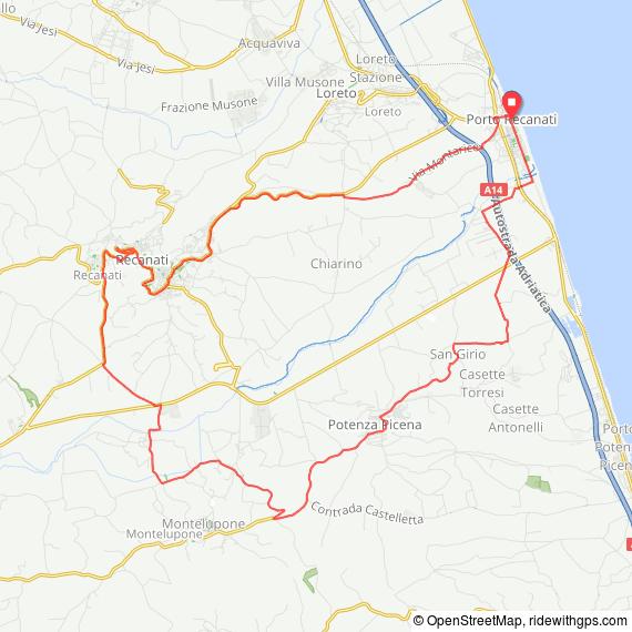 Mappa percorso Il Passero Solitario